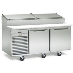 "Refrigerator, Pizza Prep Table 66"" - 2 Section, TS066HT by Traulsen."