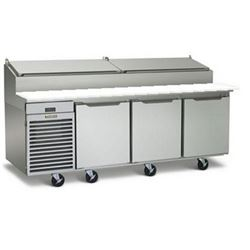 "Refrigerator, Pizza Prep Table 90"" - 3 Section, TS090HT by Traulsen."