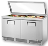 "Refrigerator, Mega Top Prep Table 64"" Flat Lid - TFP-64-24M-FGLID by True."