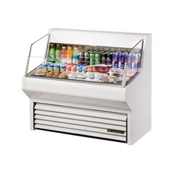 "Refrigerator, Horizontal Air Curtain Merchandiser 48"" - White, THAC-48 by True."