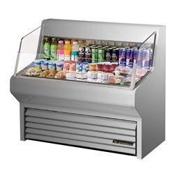 "Refrigerator, Horizontal Air Curtain Merchandiser 48"" - Stainless, THAC-48-S by True."