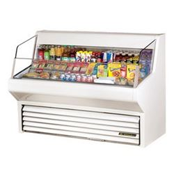"Refrigerator, Horizontal Air Curtain Merchandiser 60"" - White, THAC-60 by True."