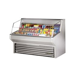 "Refrigerator, Horizontal Air Curtain Merchandiser 60"" - Stainless, THAC-60-S by True."
