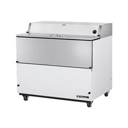 "Refrigerator, 49"" Single Sided Milk Cooler - White, TMC-49 by True."