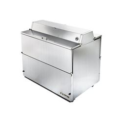 "Refrigerator, 49"" Double Sided Milk Cooler - Stainless Exterior/Stainless Interior, TMC-49-S-DS-SS by Tru"