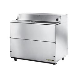 "Refrigerator, 49"" Single Sided Milk Cooler - Stainless Exterior/Stainless Interior, TMC-49-S-SS by True."