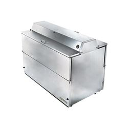 "ChefsFirst offers equipment & supplies for restaurants, commercial kitchens, foodservice & manufacturing facilities. Check our low price for this Refrigerator, 58"" Double Sided Milk Cooler - Stainless Exterior/Stainless Interior, TMC-58-S-DS-SS by True"
