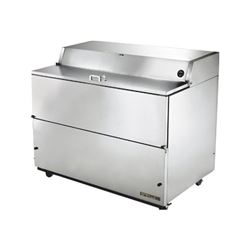 "ChefsFirst offers equipment & supplies for restaurants, commercial kitchens, foodservice & manufacturing facilities. Check our low price for this Refrigerator, 58"" Single Sided Milk Cooler - Stainless Exterior/Stainless Interior, TMC-58-S-SS by True"