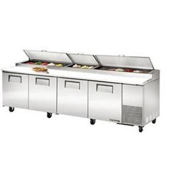 Refrigerators, Pizza Prep Table - 4 Section, TPP-119 by True.