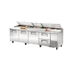 Refrigerators, Pizza Prep Table - 4 Section, 3 Doors/2 Drawers, TPP-119D-2 by True.