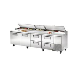 Refrigerators, Pizza Prep Table - 4 Section, 2 Doors/4 Drawers, TPP-119D-4 by True.