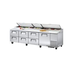 Refrigerators, Pizza Prep Table - 4 Section, 1 Door/6 Drawers, TPP-119D-6 by True.