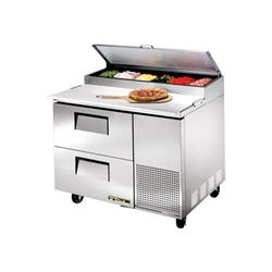Refrigerators, Pizza Prep Table - 1 Section, 2 Drawers, TPP-44D-2 by True.