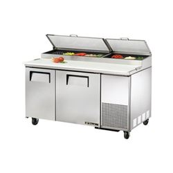 Refrigerators, Pizza Prep Table - 2 Section, TPP-60 by True.