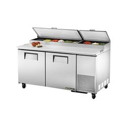 Refrigerators, Pizza Prep Table - 2 Section,TPP-67 by True.