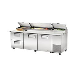 Refrigerators, Pizza Prep Table - 3 Section, 2 Door, 2 Drawers, TPP-93D-2 by True.