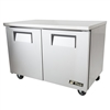 "Refrigerator, Undercounter 48"" Solid Door - 2 Section, TUC-48-HC by True."