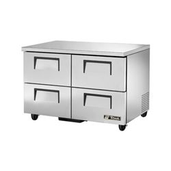 "Freezer, Undercounter 48"" - 2 Section, 4 Drawers, TUC-48F-D-4-HC by True."