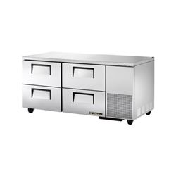 "Refrigerator, Undercounter 67"" - 2 Section,  4 Drawers, TUC-67D-4 by True."