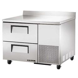 "Refrigerator, Work Top 44"" - 1 Section, 2 Drawers, TWT-44D-2 by True."