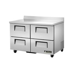 "Refrigerator, Work Top 48"" - 2 Section, 4 Drawers, TWT-48D-4 by True."