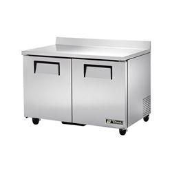 "Freezer, Work Top 48"" Solid Door - 2 Section, TWT-48F by True."