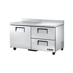 "Refrigerator, Work Top 60"" - 2 Section, 1 Door, 2 Drawers, TWT-60D-2 by True."