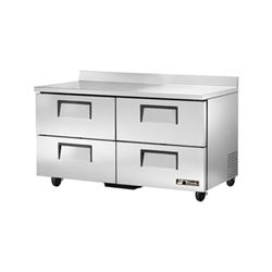 "Refrigerator, Work Top 60"" - 2 Section, 4 Drawers, TWT-60D-4 by True."
