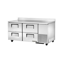 "Refrigerator, Work Top 67"" - 2 Section, 4 Drawers, TWT-67D-4 by True."