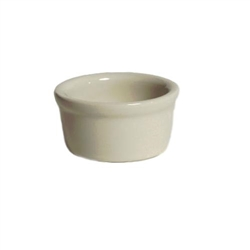 Ramekin, 2 1/2oz Smooth Sides Plain Porcelain, Eggshell, BEX-025 by Tuxton.