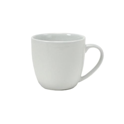 "Coffee Mug, 12 oz Porcelain ""Milano"", White, BPM-120A by Tuxton."