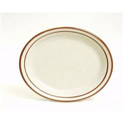 "Platter, 13 1/4"" Brown Speckle ""Bahamas Pattern"", TBS-014 by Tuxton."