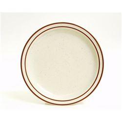 "Plate, 10 1/2"" Brown Speckle ""Bahamas Pattern"", TBS-016 by Tuxton."