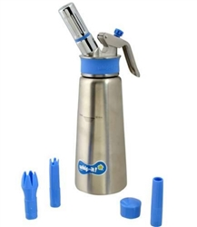 Whipped Cream Maker, 1/2 Liter - Stainless Steel, SSPLUS71 by Whip-It.