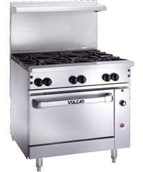 "Range, 36"", 6 Burners, 1 Standard Oven - Nat. Gas, 36S-6B-N by Vulcan."
