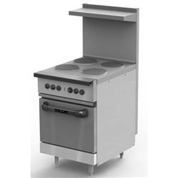 "Range, 24"" Electric, 4 French Plates, 1 Standard  Oven - 240V, EV24-S-4FP-240 by Vulcan."