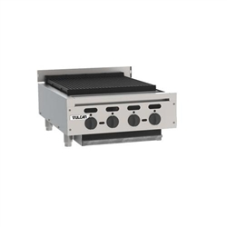 "Charbroiler, 25 3/8"" Wide Countertop Radiant Style - Nat. Gas, VACB25-N by Vulcan."