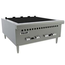 "Charbroiler, 25 3/8"" Wide Countertop Radiant Style - Gas, VCRB25-1 by Vulcan."
