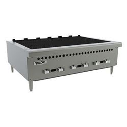 "Charbroiler, 36"" Wide Countertop Radiant Style - Gas, VCRB36-1 by Vulcan."