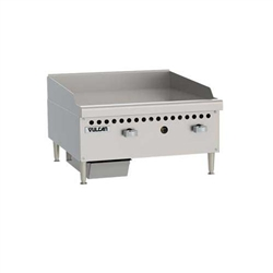 "Griddle, 24"" Wide, 1"" Thick, Manual Controls - Nat. Gas, VCRG24-M1 by Vulcan."