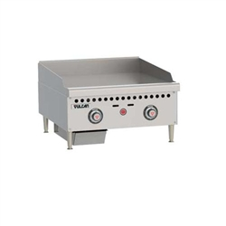 "Griddle, 24"" Wide, 1"" Thick, Thermostatic Controls - Nat. Gas, VCRG24-T1 by Vulcan."