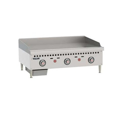 "Griddle, 36"" Wide, 1"" Thick, Thermostatic Controls - Nat. Gas, VCRG36-T1 by Vulcan."