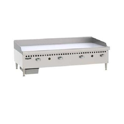 "Griddle, 48"" Wide, 1"" Thick, Manual Controls - Nat. Gas, VCRG48-M1 by Vulcan."