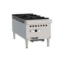 "Hotplate, 12"" Wide 2 Burners - Gas, VCRH12-1 by Vulcan."