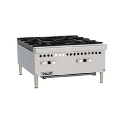 "Hotplate, 24"" Wide 4 Burners - Gas, VCRH24-1 by Vulcan."