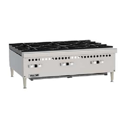 "Hotplate, 36"" Wide 6 Burners - Gas, VCRH36-1 by Vulcan."