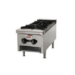 "Hotplate, 12"" Wide 2 Burner - Gas, HDHP-1230G by Wells."