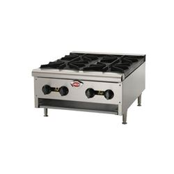"Hotplate, 24"" Wide 2 Burner - Gas, HDHP-2430G by Wells."