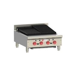 "Charbroiler, Countertop Radiant Style 24"" Gas, ACB25 by Wolf."