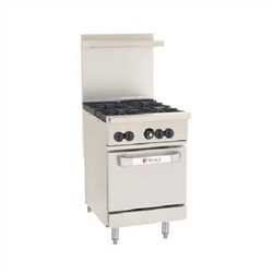 "Range, 24"", 4 Burners, 1 Standard Oven - Nat. Gas, C24-S-4B-N by Wolf."